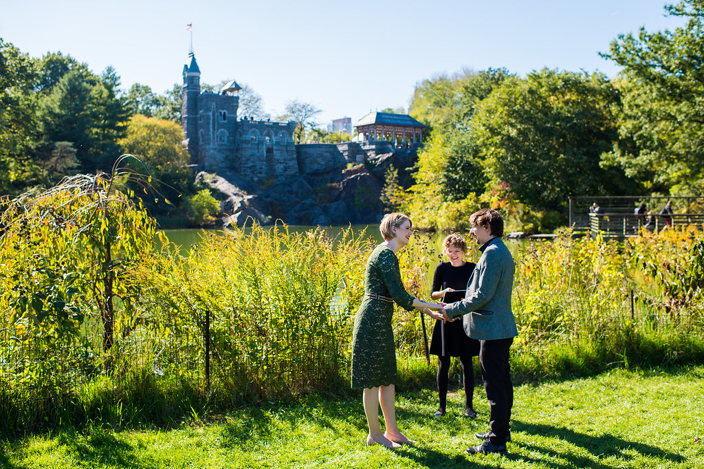 Wedding Ceremony by Turtle Pond in Central Park