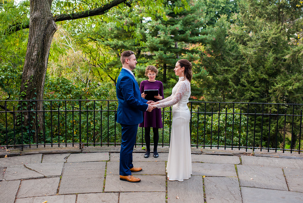 The Balcony by the Shakespeare Garden is a fantastic location for weddings in Central Park.
