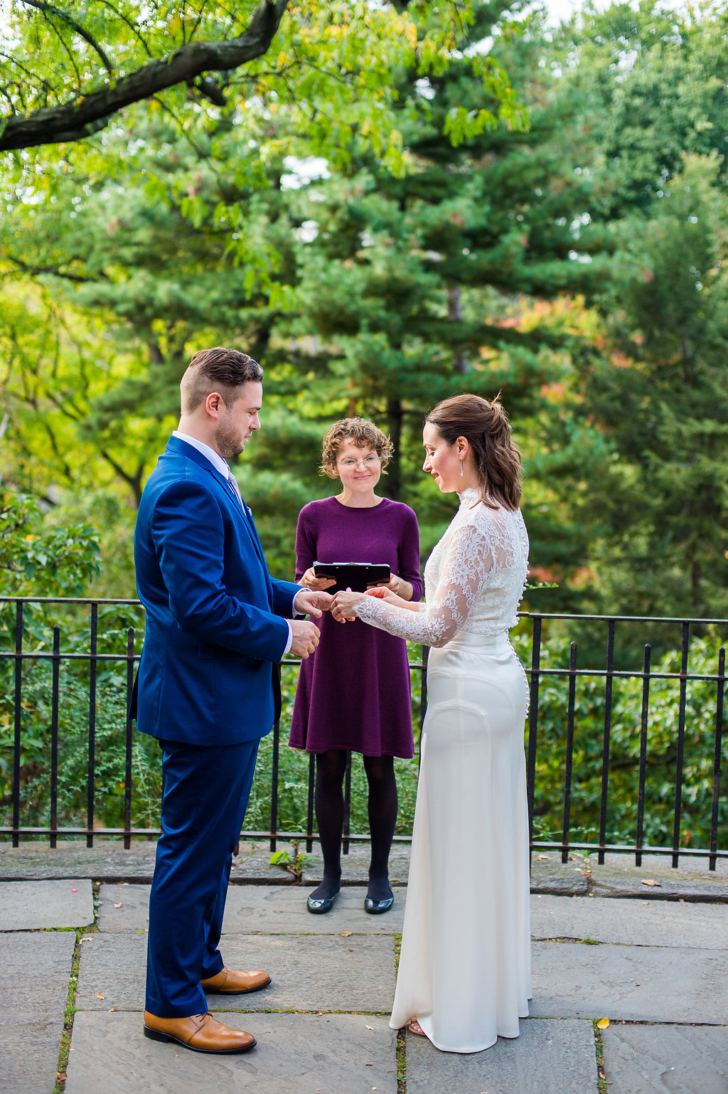 Wedding Officiant in Central Park's Shakespeare Garden