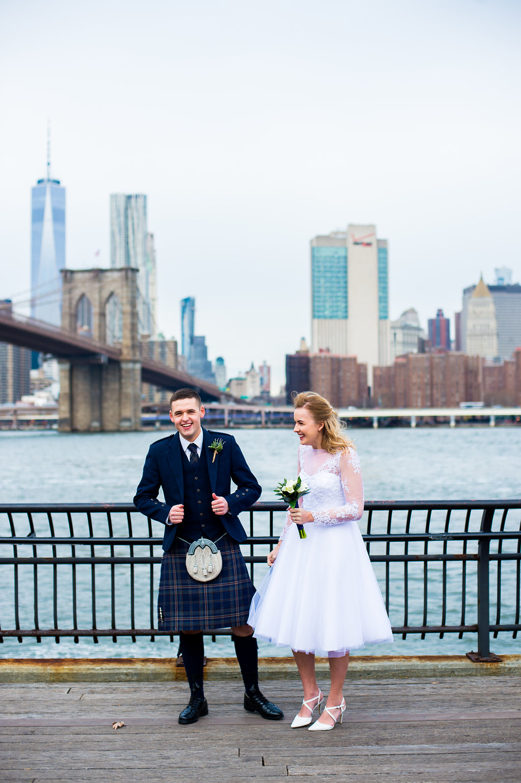 This Scottish pair travelled to New York for their destination wedding.