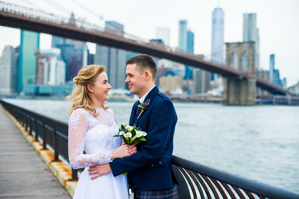 Brooklyn Bridge Park is usually not quite as congested as Central Park, and it is a great option for scenic views during your wedding ceremony.