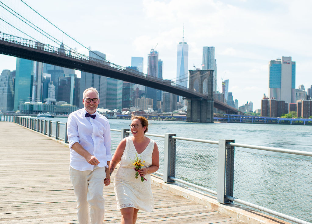 With many great spots for wedding ceremonies and photos, Brooklyn Bridge Park is now stretches across the East River.